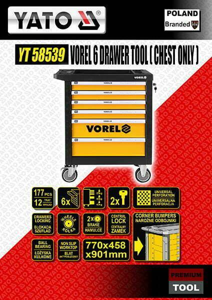 Vorel 6 Drawer Tool (Chest Only)