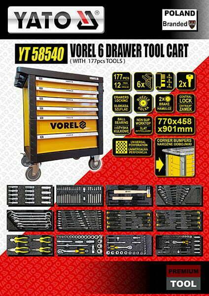 Vorel 6 Drawer Tool Cart