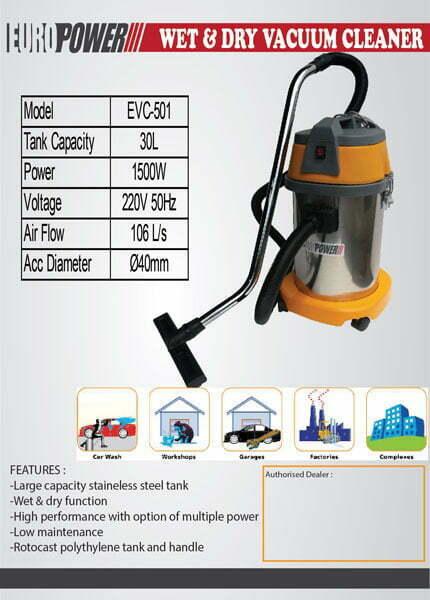 EUROPOWER VAC5001 Vacuum Cleaner-web