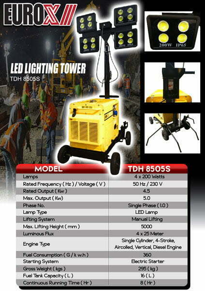 EUROX TDH8505 LED Lighting Tower-web