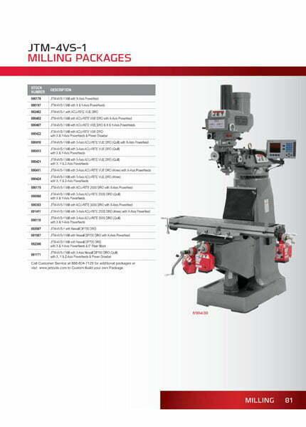 JET JTM 4VS Milling Machine-web